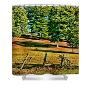 Fence - Featured In Comfortable Art Group Shower Curtain