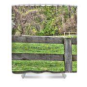 Fence Field Shower Curtain
