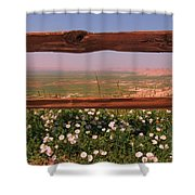 Fence Frame Shower Curtain