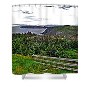 Fence In Fields At Long Point In Twillingate-nl Shower Curtain