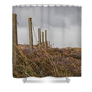 Fence In The Storm In Norway Shower Curtain