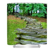 Fence Line Shower Curtain by Dan Stone