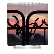 Fence Of Luck Shower Curtain
