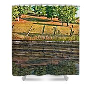 Fence Reflection Shower Curtain
