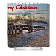 Fence To The Beach Shower Curtain