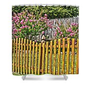 Fenced Beauty Shower Curtain