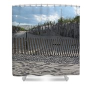 Fenced Dune Shower Curtain