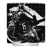 Fenced In At Indy Flhr Shower Curtain