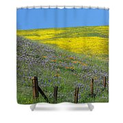 Fenced In Flowers Shower Curtain