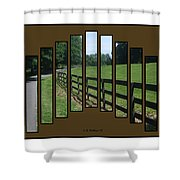 Fenced Pasture Shower Curtain
