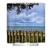 Fenced View Shower Curtain