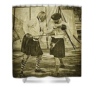 Fencing Practice Shower Curtain
