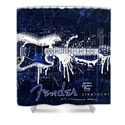 Fender Blueprint Washout Shower Curtain