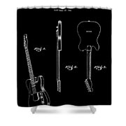 Fender Electric Guitar 2 Patent Art 1951 Shower Curtain