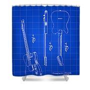 Fender Guitar Patent 1951 - Blue Shower Curtain