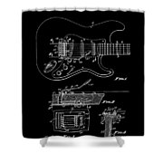 Fender Guitar Tremolo Patent Art 1956 Shower Curtain