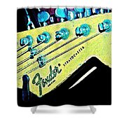 Fender Head In Watercolor Photo Shower Curtain
