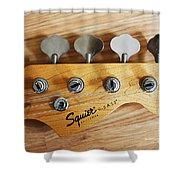 Fender Squier Bass Shower Curtain