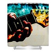Fender Strat Shower Curtain by Bob Orsillo