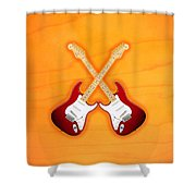 Fender Stratocaster American Standart Red   Shower Curtain