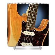 Fender Stratocaster Electric Guitar Natural Shower Curtain