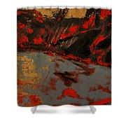 Feng Shui - Gold Mountain Shower Curtain
