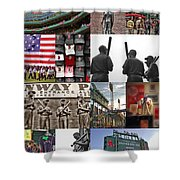 Fenway Memories Shower Curtain by Joann Vitali