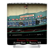 Fenway Memories - Poster 2 Shower Curtain