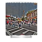 Fenway Park And Cask And Flagon Shower Curtain