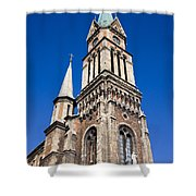 Ferencvaros Church Tower In Budapest Shower Curtain