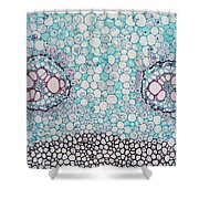 Fern Pteridium Rhizome, Lm Shower Curtain