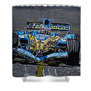 Fernando Alonso In Blue Shower Curtain