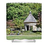Fernwood Botanical Garden Stone Herb House Usa Shower Curtain
