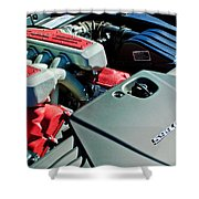 Ferrari 599 Gtb Engine Shower Curtain