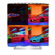 Ferrari Collage Shower Curtain