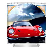 Ferrari Dino Shower Curtain