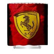 Ferrari Emblem Shower Curtain