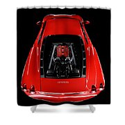Ferrari F430 Engine Shower Curtain