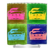 Ferrari Front Pop Art 3 Shower Curtain by Naxart Studio