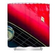 Ferrari Grille Emblem - Headlight Shower Curtain