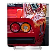 Ferrari Gto 288 Taillight -0631c Shower Curtain