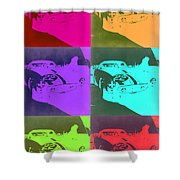 Ferrari Gto Pop Art 3 Shower Curtain by Naxart Studio
