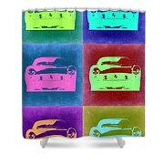 Ferrari Pop Art 2 Shower Curtain