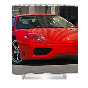 Ferrari Red Shower Curtain