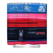Ferrari Scuderia 430 Rear Emblems Shower Curtain