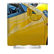 Ferrari Side Emblem Shower Curtain