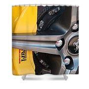 Ferrari Wheel - Brake Emblem Shower Curtain