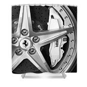 Ferrari Wheel Emblem Shower Curtain