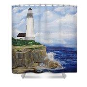 Ferrels Lighthouse Shower Curtain