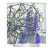 Ferris Wheel 2 Shower Curtain